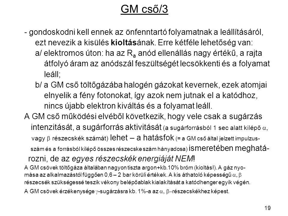 GM cső/3 - gondoskodni kell ennek az önfenntartó folyamatnak a leállításáról, ezt nevezik a kisülés kioltásának. Erre kétféle lehetőség van: