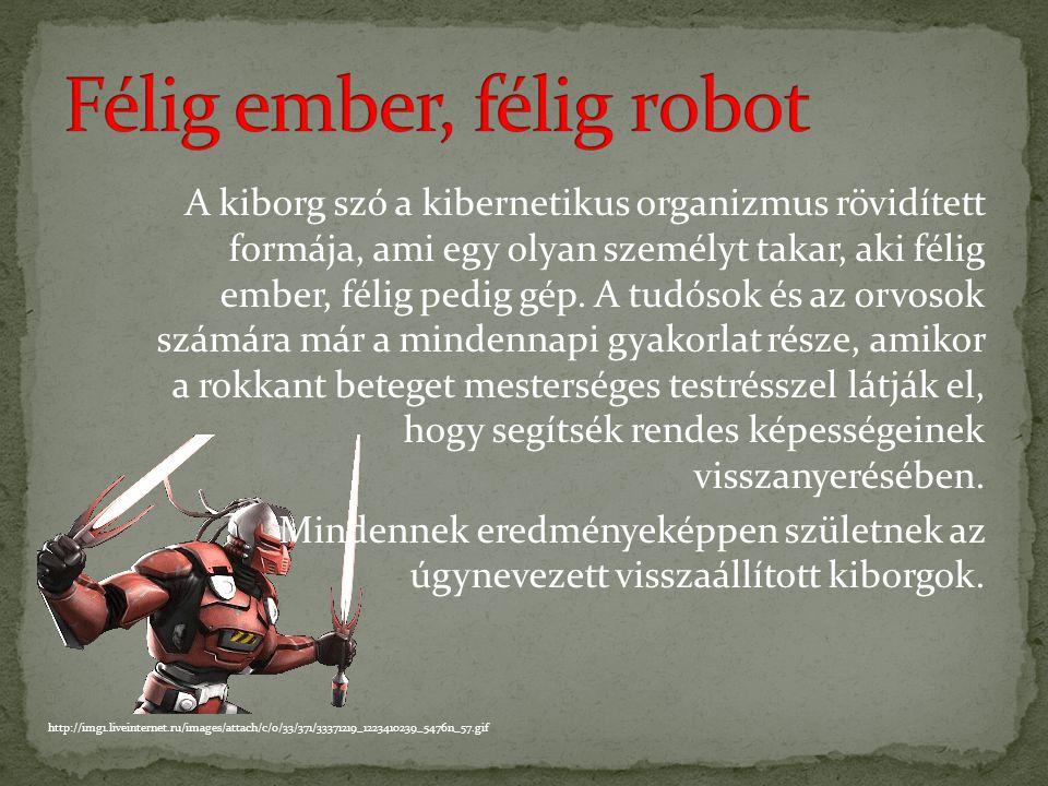 Félig ember, félig robot