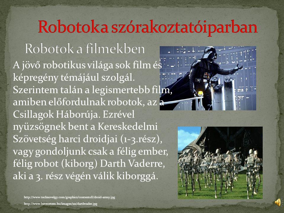 Robotok a szórakoztatóiparban