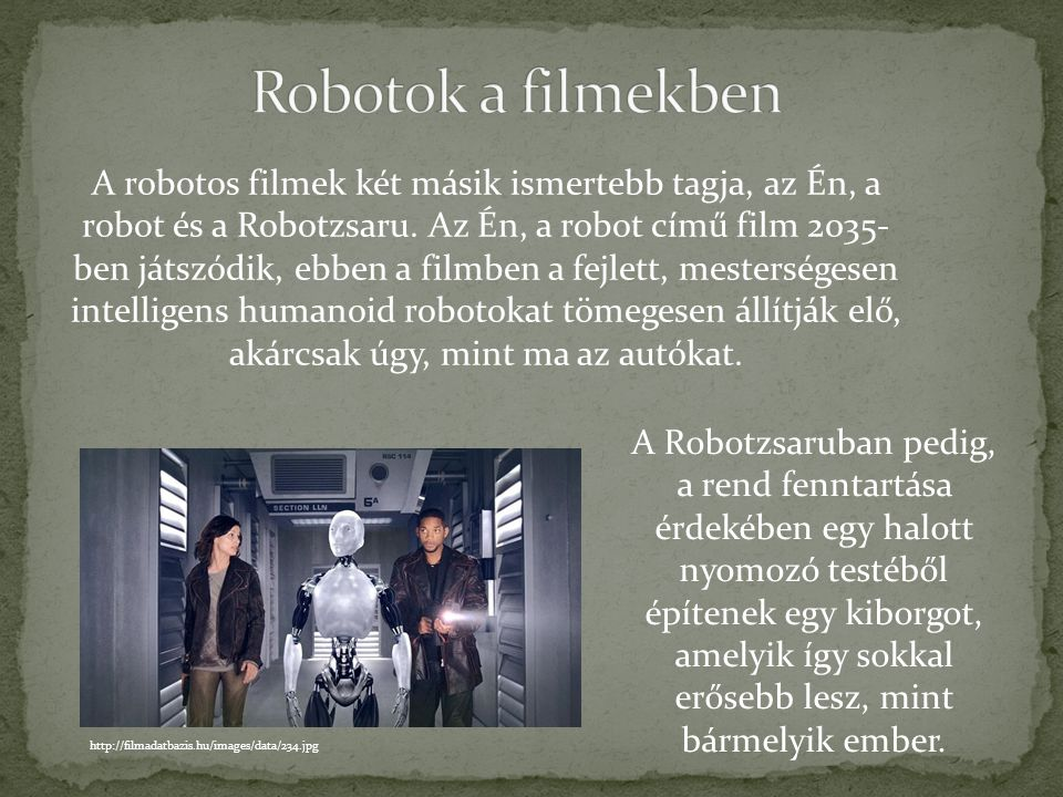 Robotok a filmekben