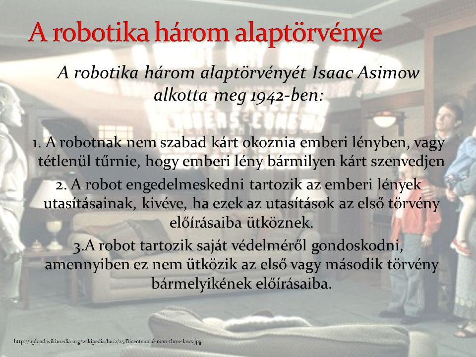 A robotika három alaptörvénye