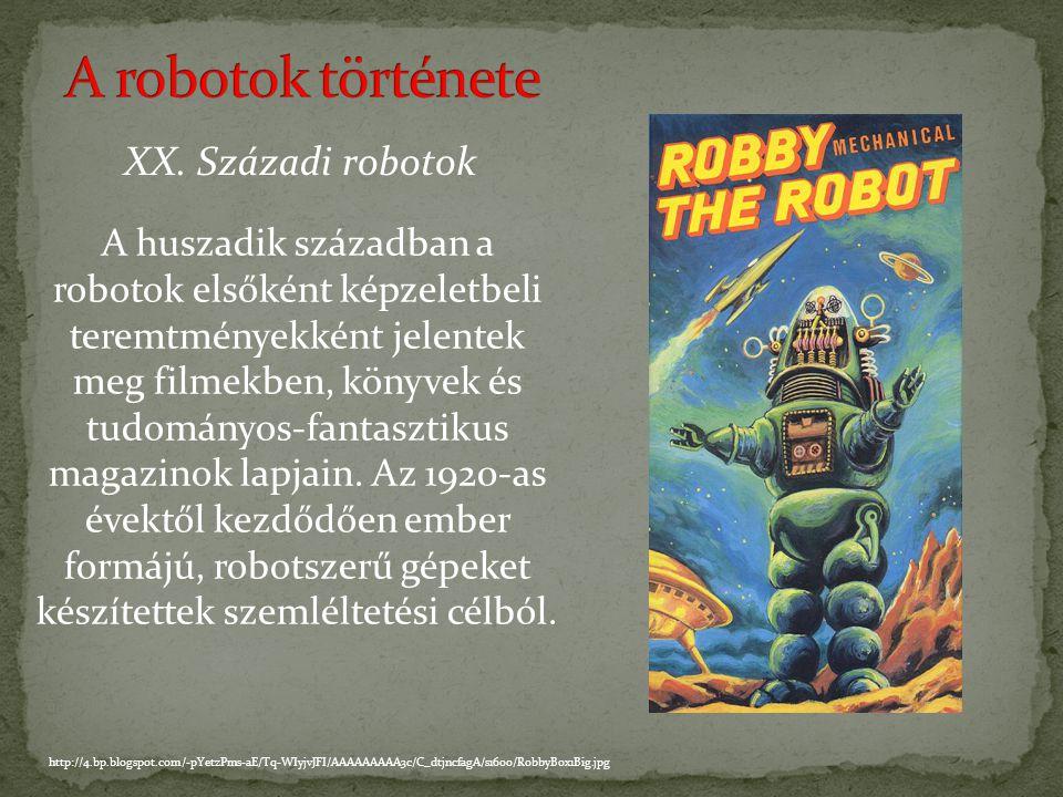 A robotok története XX. Századi robotok