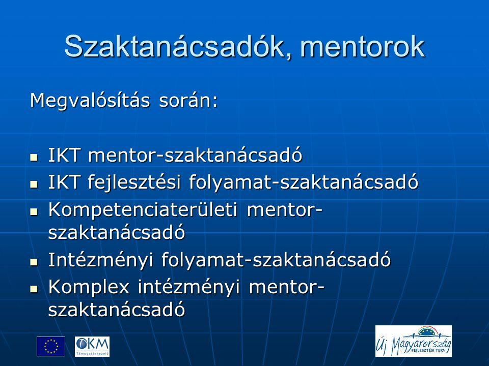 Szaktanácsadók, mentorok