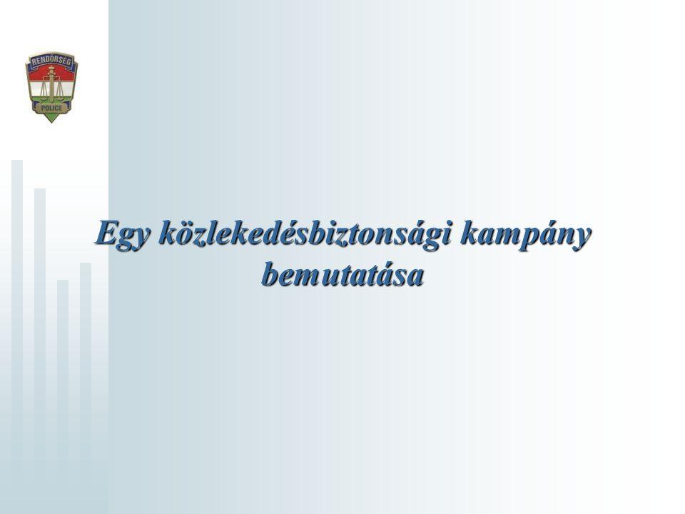 Egy közlekedésbiztonsági kampány bemutatása