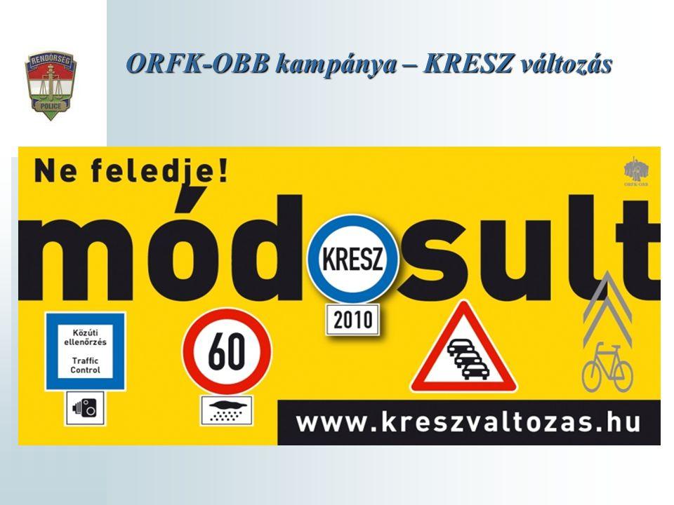 ORFK-OBB kampánya – KRESZ változás