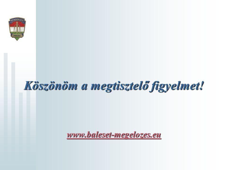 Köszönöm a megtisztelő figyelmet! www.baleset-megelozes.eu