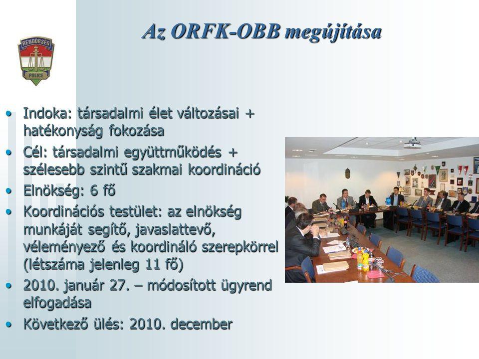 Az ORFK-OBB megújítása