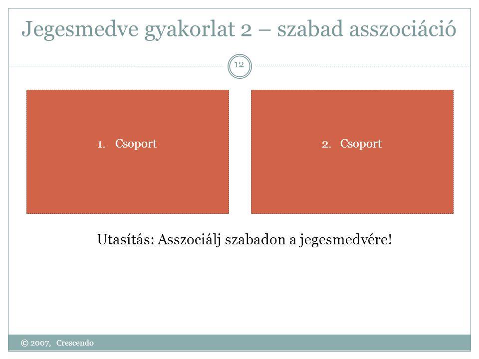 Jegesmedve gyakorlat 2 – szabad asszociáció