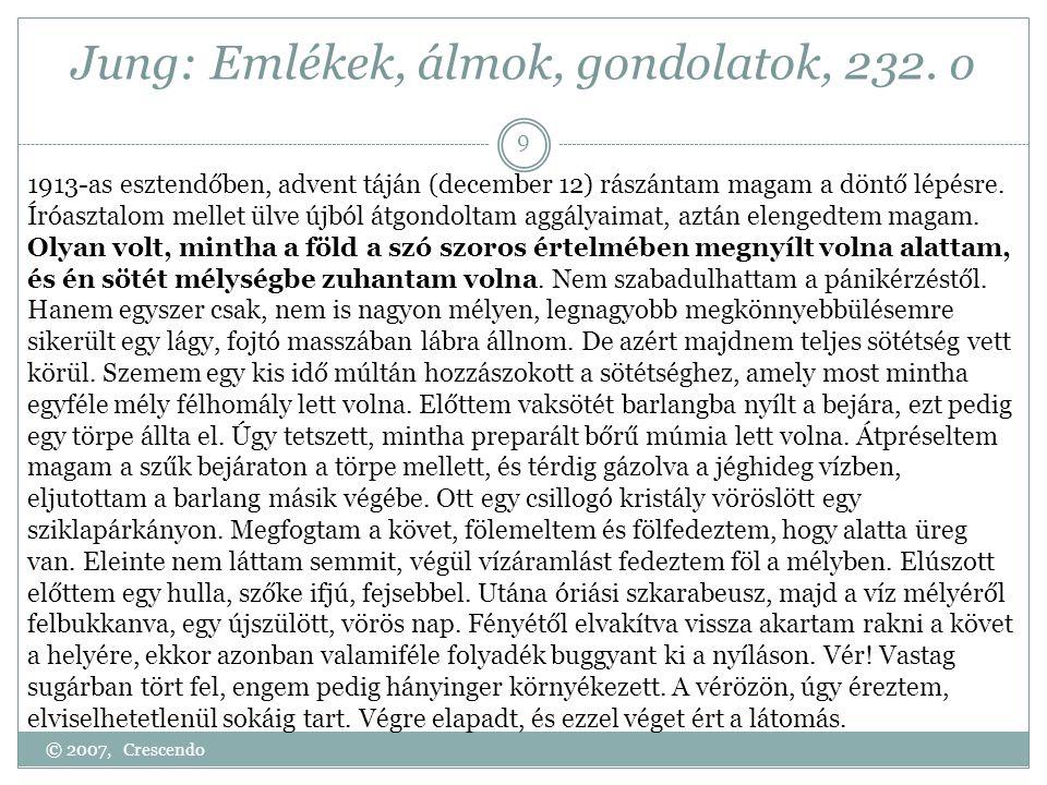 Jung: Emlékek, álmok, gondolatok, 232. o