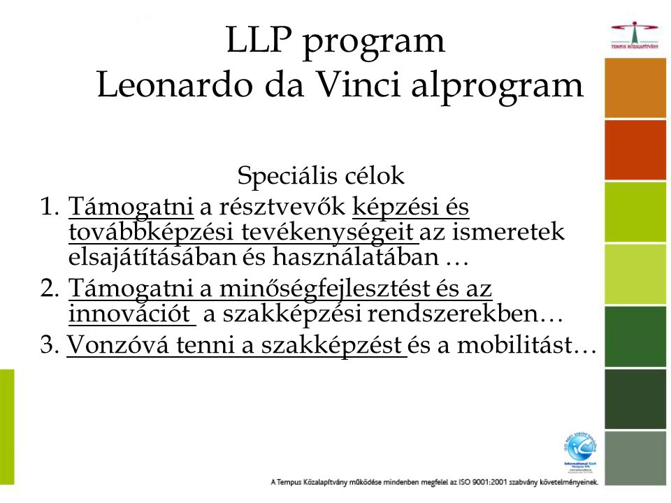 LLP program Leonardo da Vinci alprogram