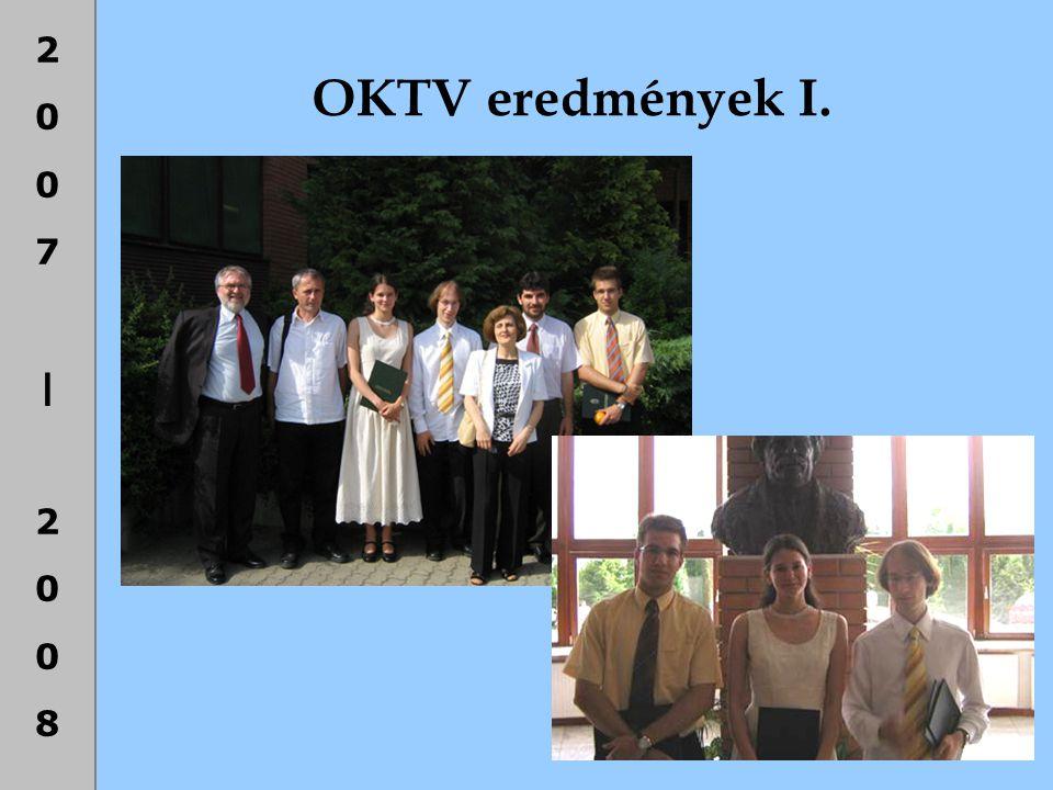 OKTV eredmények I.