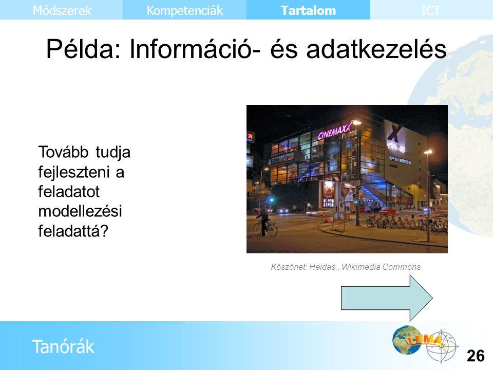 Példa: Információ- és adatkezelés