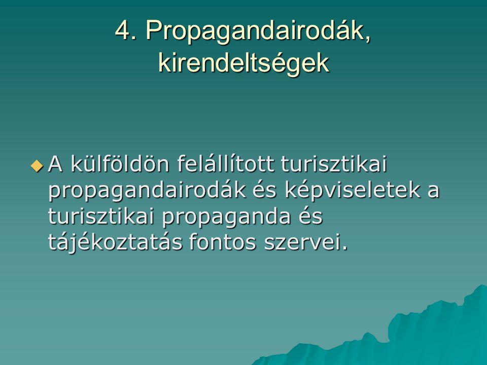 4. Propagandairodák, kirendeltségek