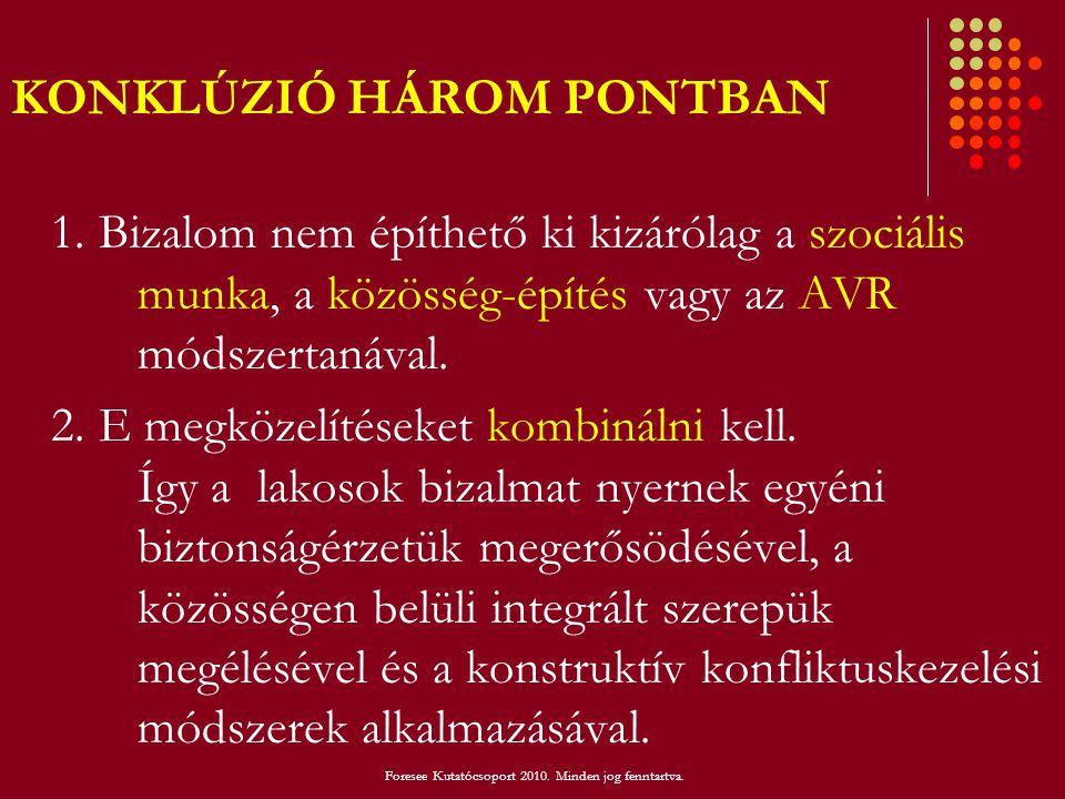 KONKLÚZIÓ HÁROM PONTBAN
