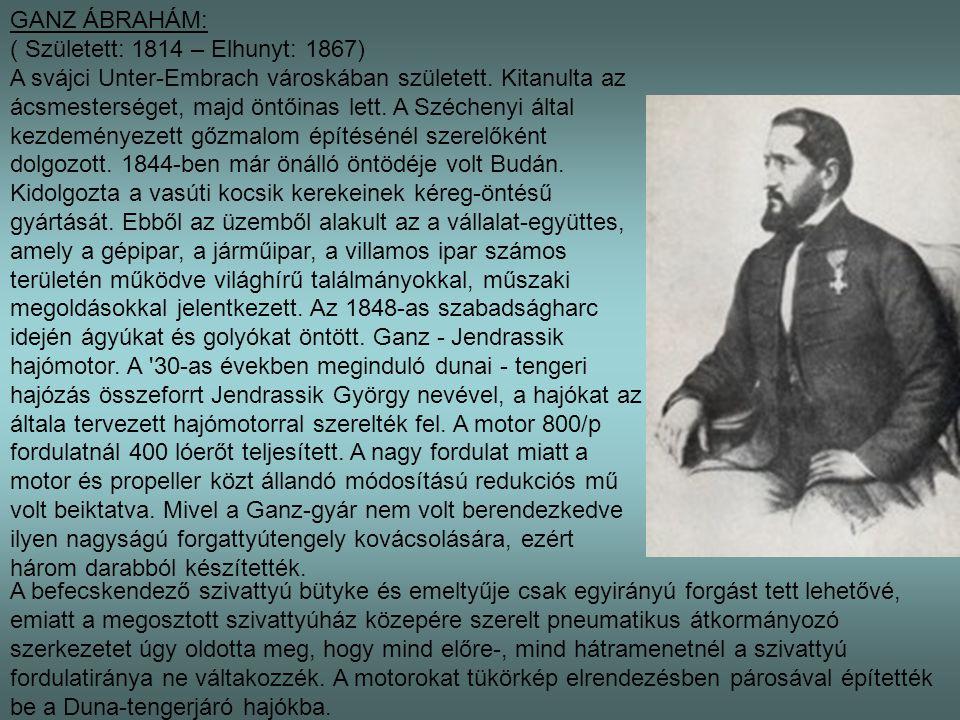GANZ ÁBRAHÁM: ( Született: 1814 – Elhunyt: 1867)