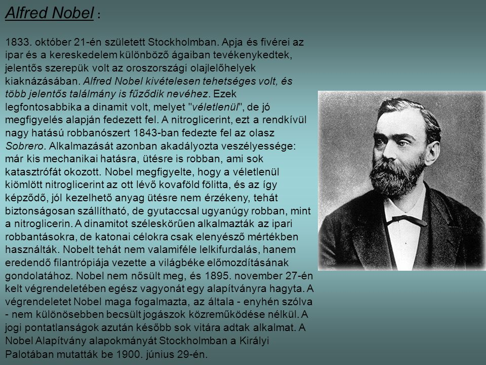 Alfred Nobel :