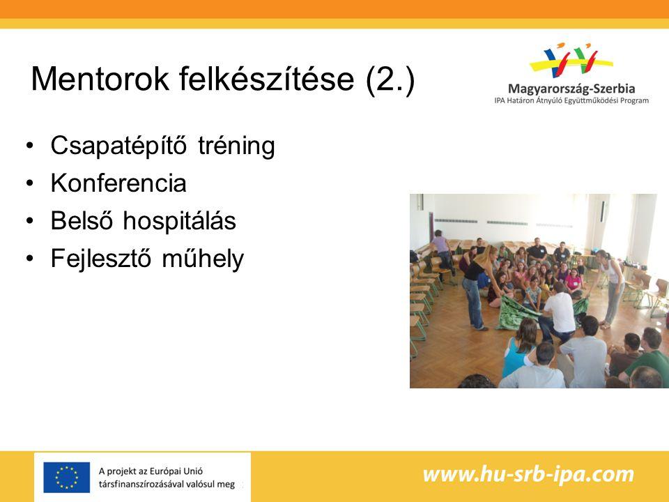 Mentorok felkészítése (2.)