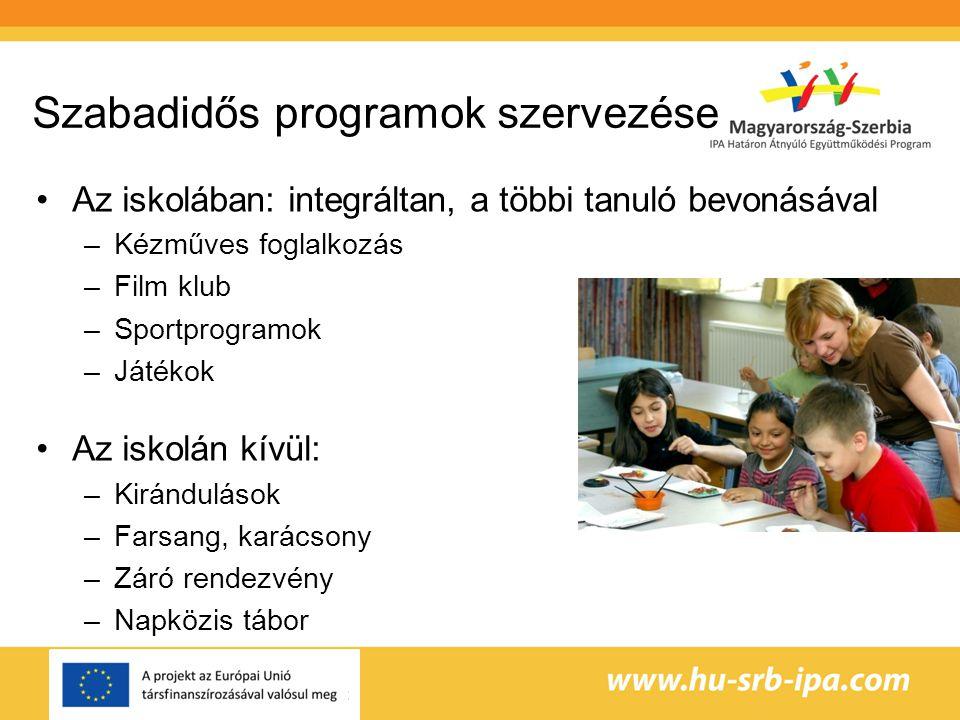 Szabadidős programok szervezése