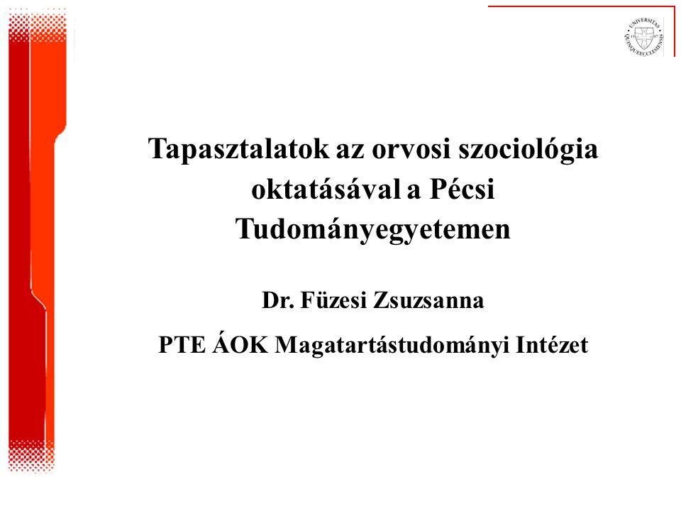 PTE ÁOK Magatartástudományi Intézet