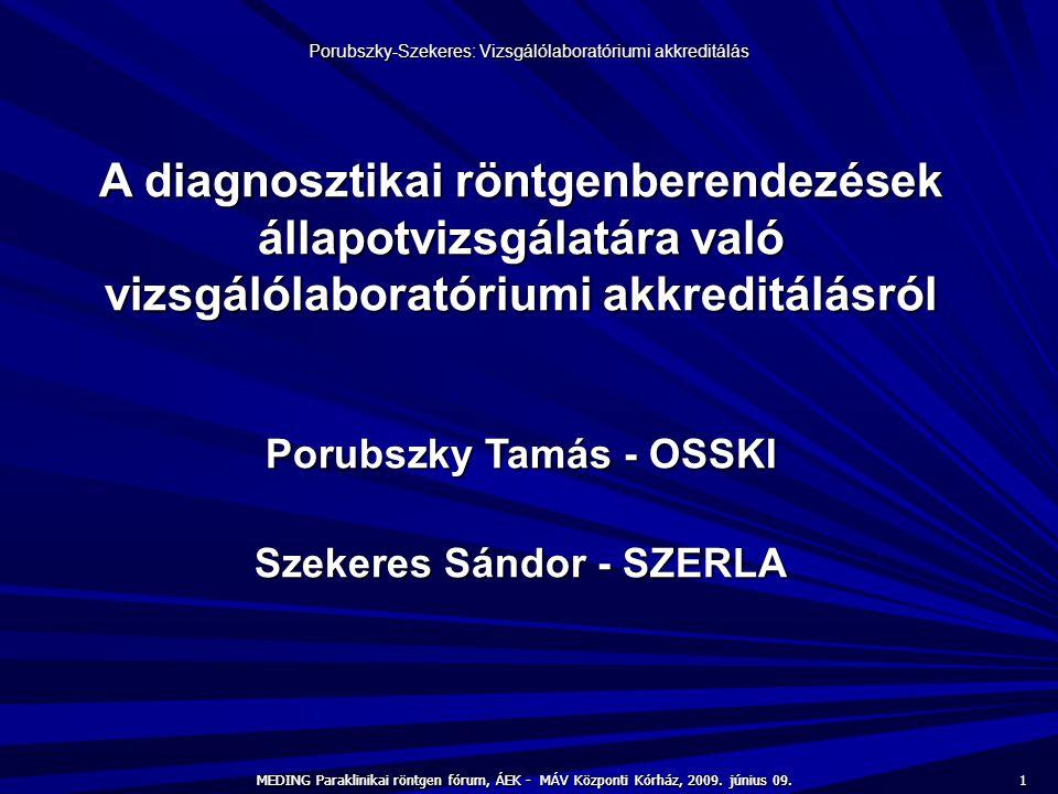 Porubszky Tamás - OSSKI Szekeres Sándor - SZERLA