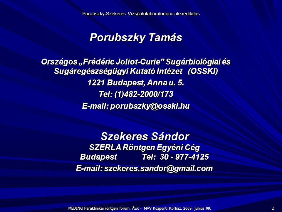Porubszky Tamás Szekeres Sándor