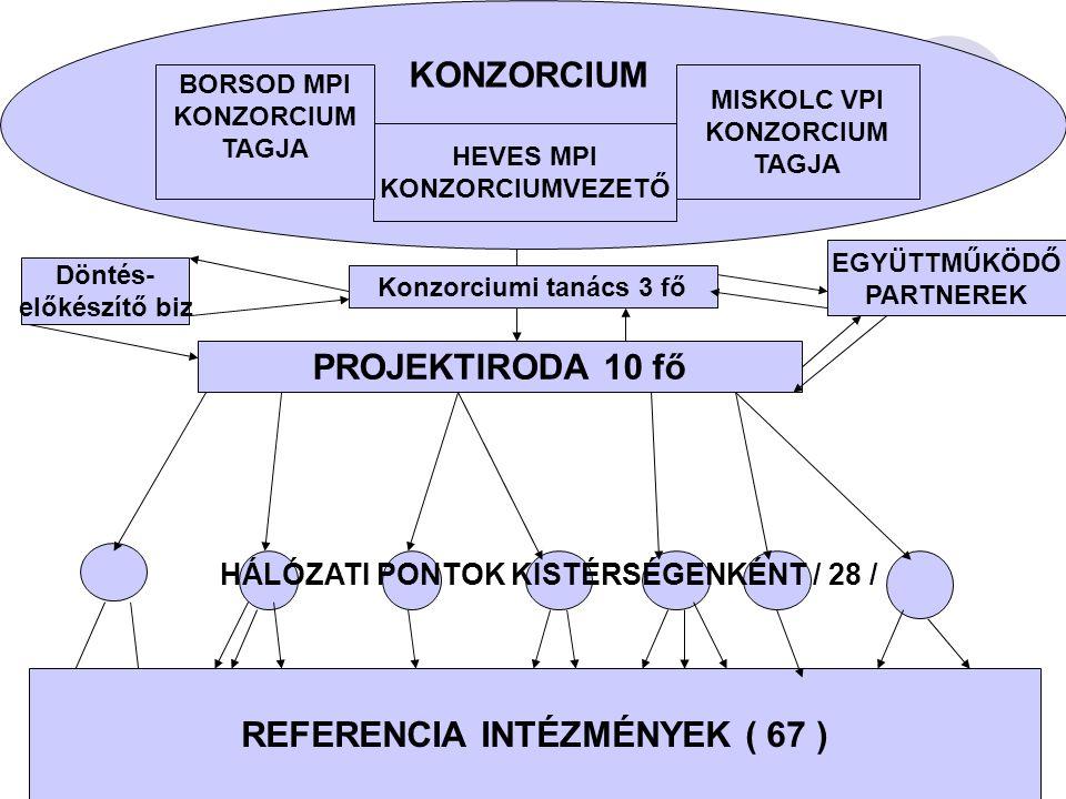 HÁLÓZATI PONTOK KISTÉRSÉGENKÉNT / 28 / REFERENCIA INTÉZMÉNYEK ( 67 )