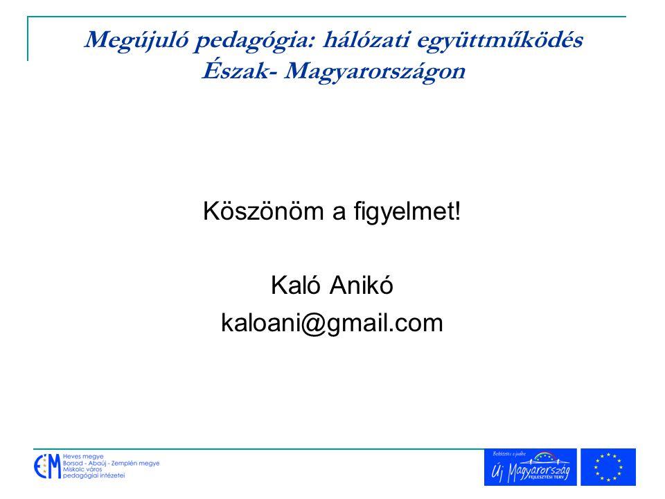 Megújuló pedagógia: hálózati együttműködés Észak- Magyarországon