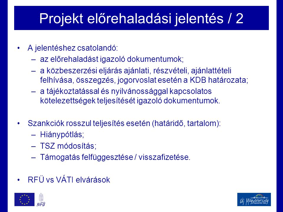 Projekt előrehaladási jelentés / 2