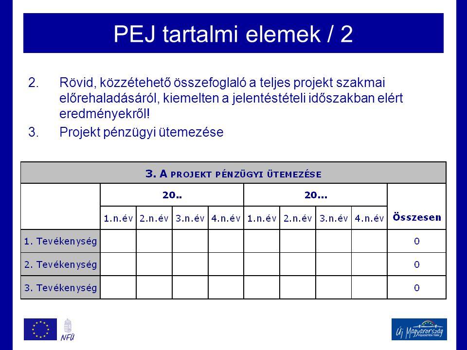 PEJ tartalmi elemek / 2