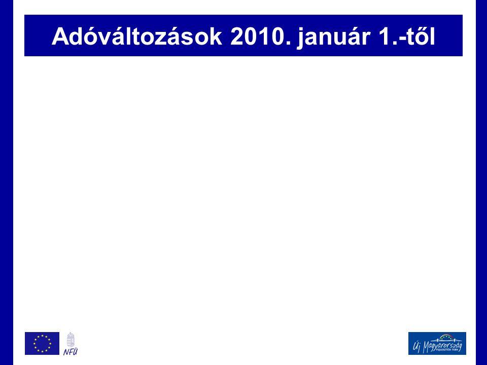 Adóváltozások 2010. január 1.-től