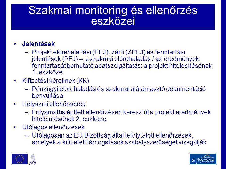 Szakmai monitoring és ellenőrzés eszközei