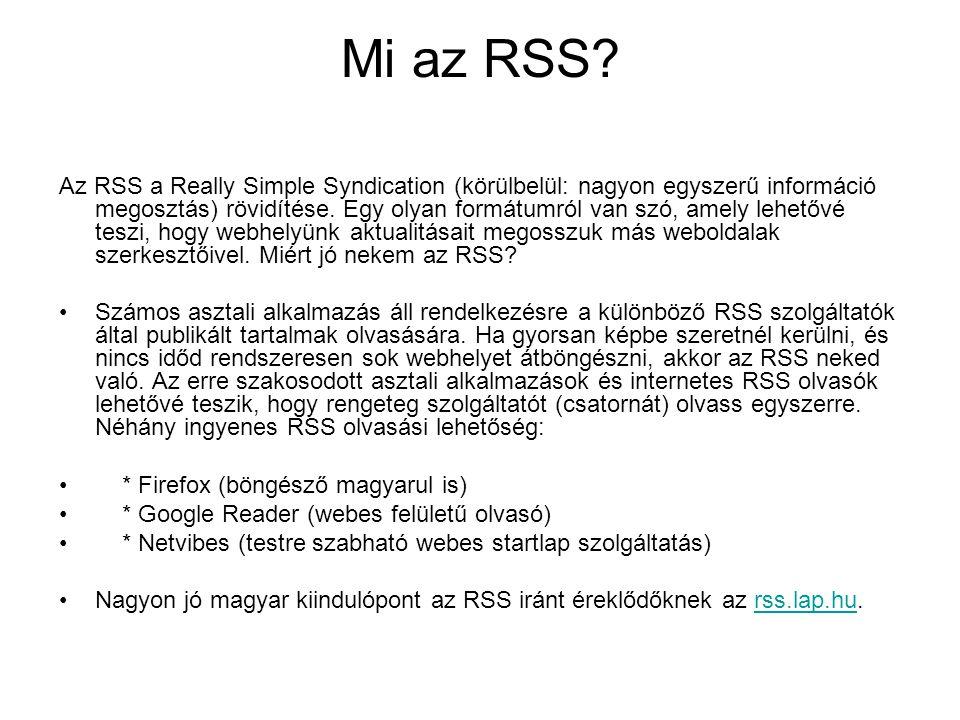 Mi az RSS