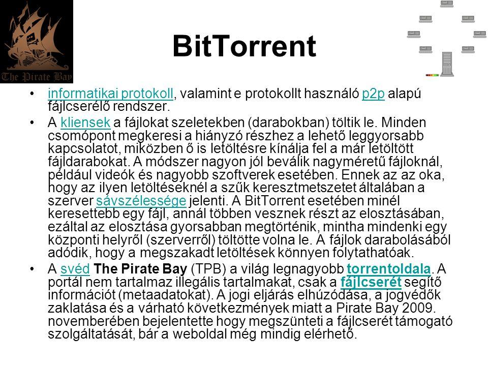 BitTorrent informatikai protokoll, valamint e protokollt használó p2p alapú fájlcserélő rendszer.