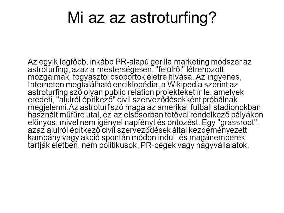 Mi az az astroturfing