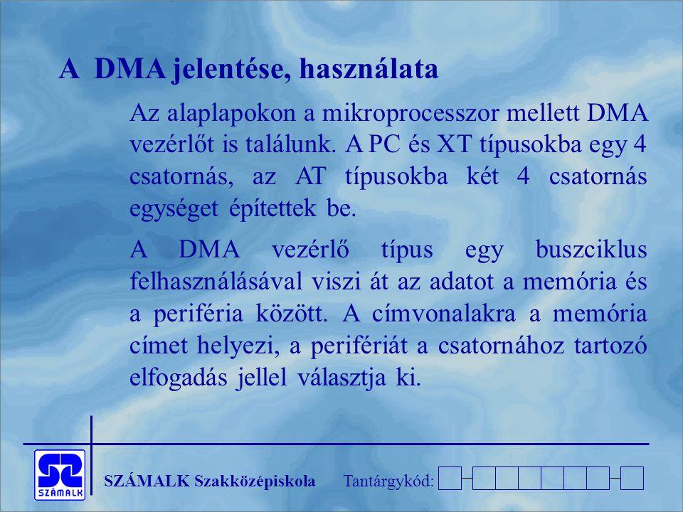 A DMA jelentése, használata