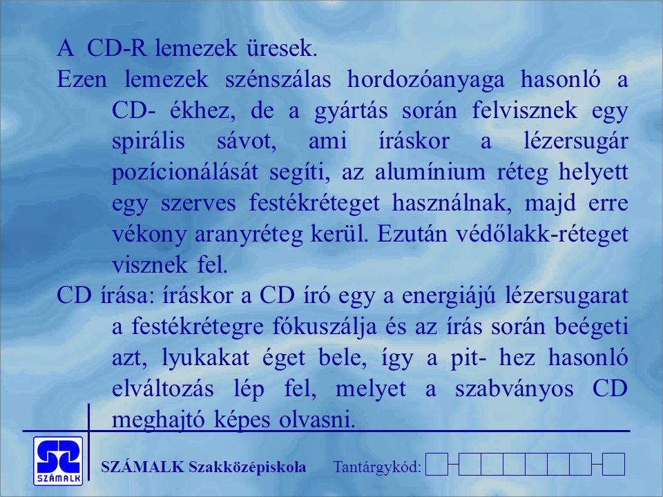 A CD-R lemezek üresek.