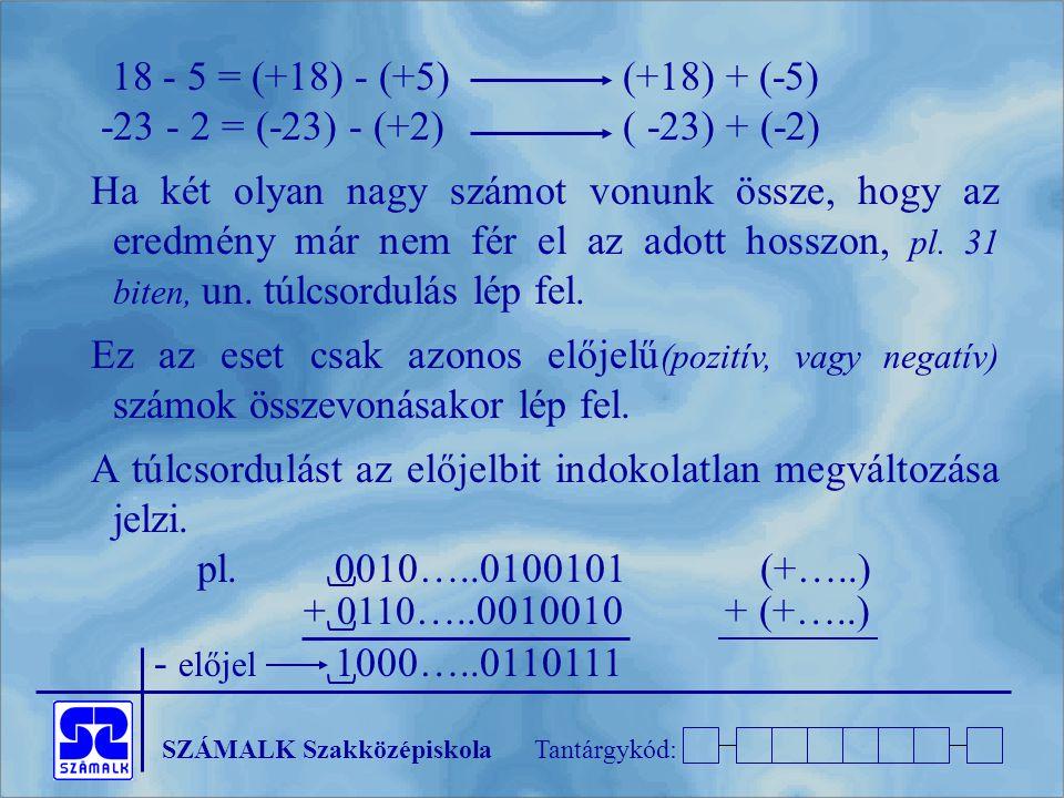 18 - 5 = (+18) - (+5) (+18) + (-5) -23 - 2 = (-23) - (+2) ( -23) + (-2)