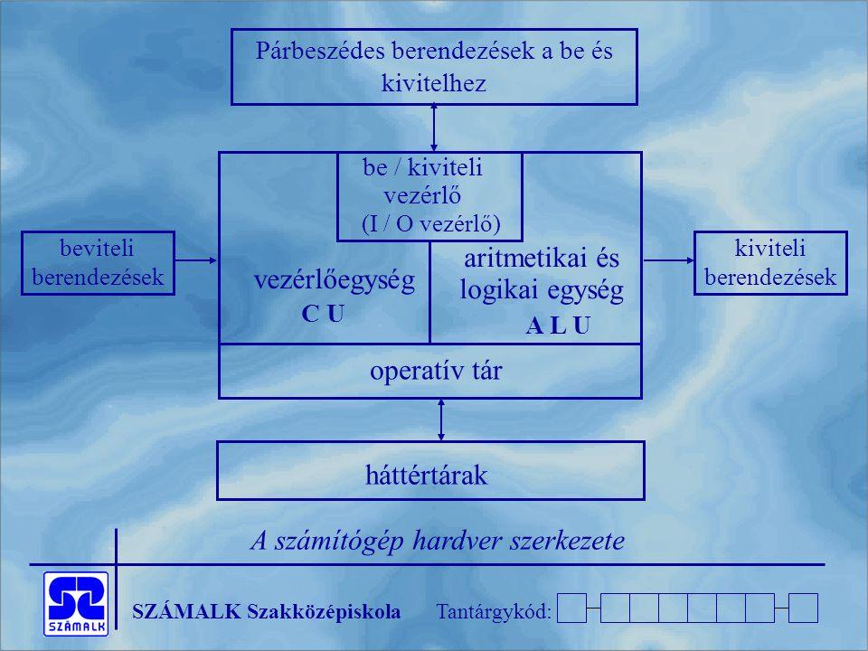 aritmetikai és logikai egység vezérlőegység