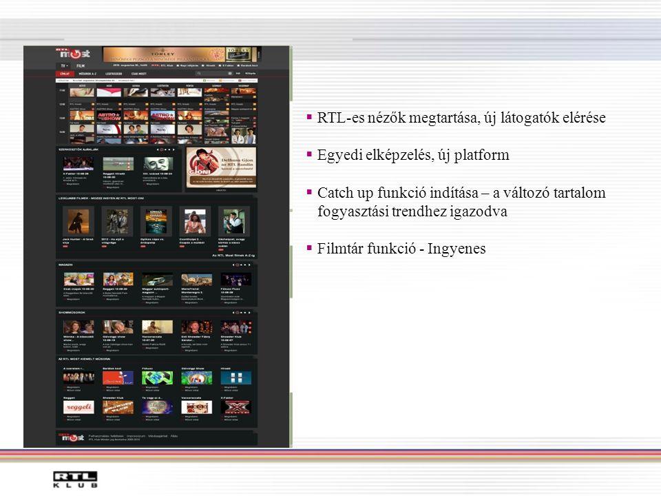 RTL-es nézők megtartása, új látogatók elérése