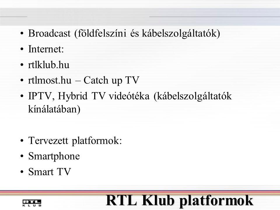 RTL Klub platformok Broadcast (földfelszíni és kábelszolgáltatók)