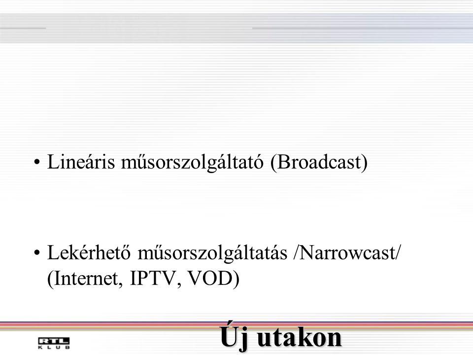 Új utakon Lineáris műsorszolgáltató (Broadcast)