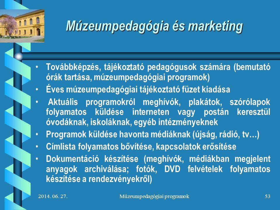 Múzeumpedagógia és marketing
