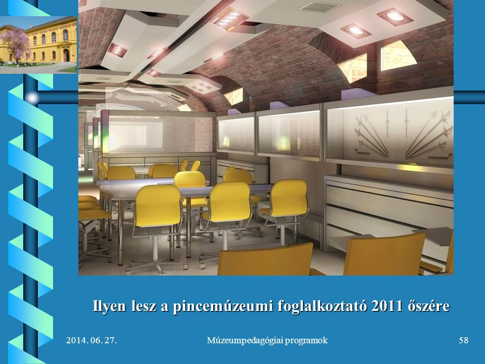 Ilyen lesz a pincemúzeumi foglalkoztató 2011 őszére
