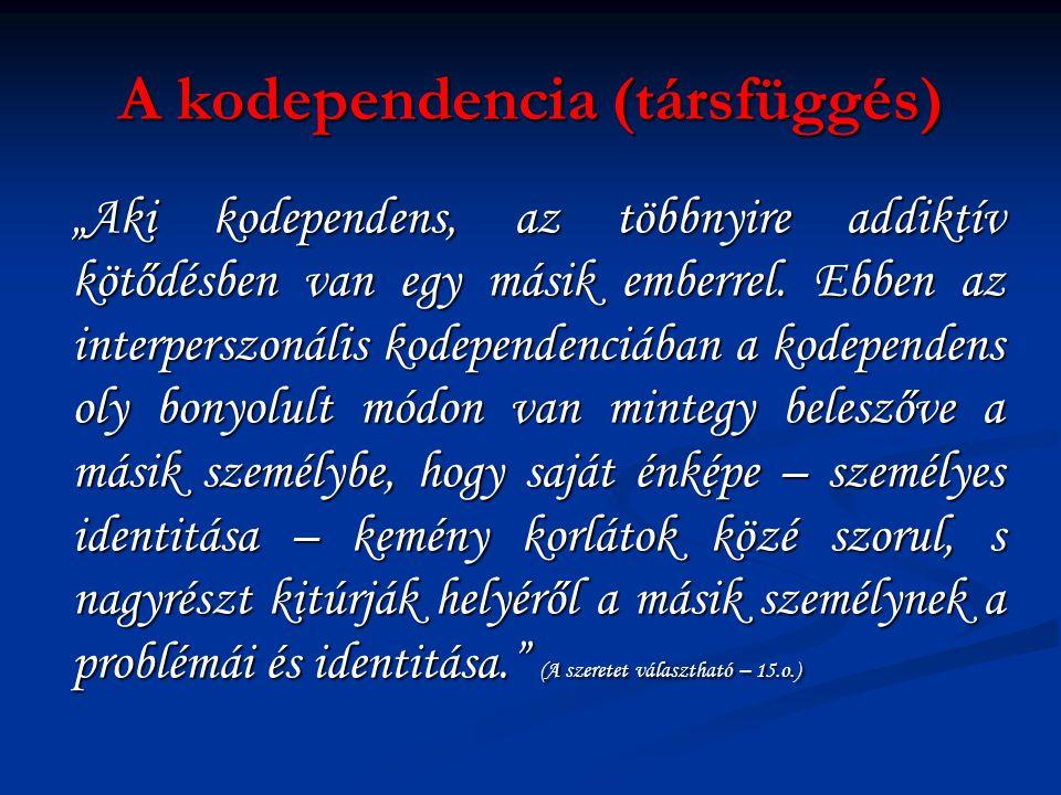 A kodependencia (társfüggés)