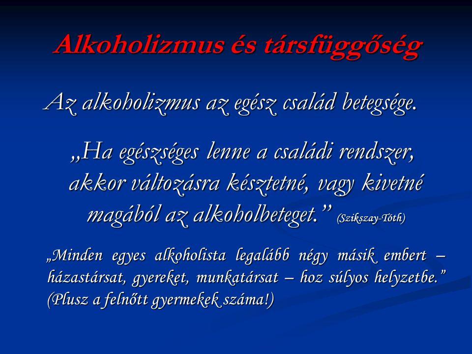 Alkoholizmus és társfüggőség