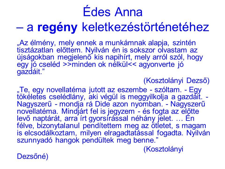 Édes Anna – a regény keletkezéstörténetéhez
