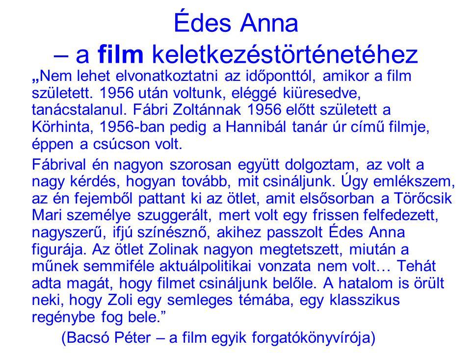 Édes Anna – a film keletkezéstörténetéhez