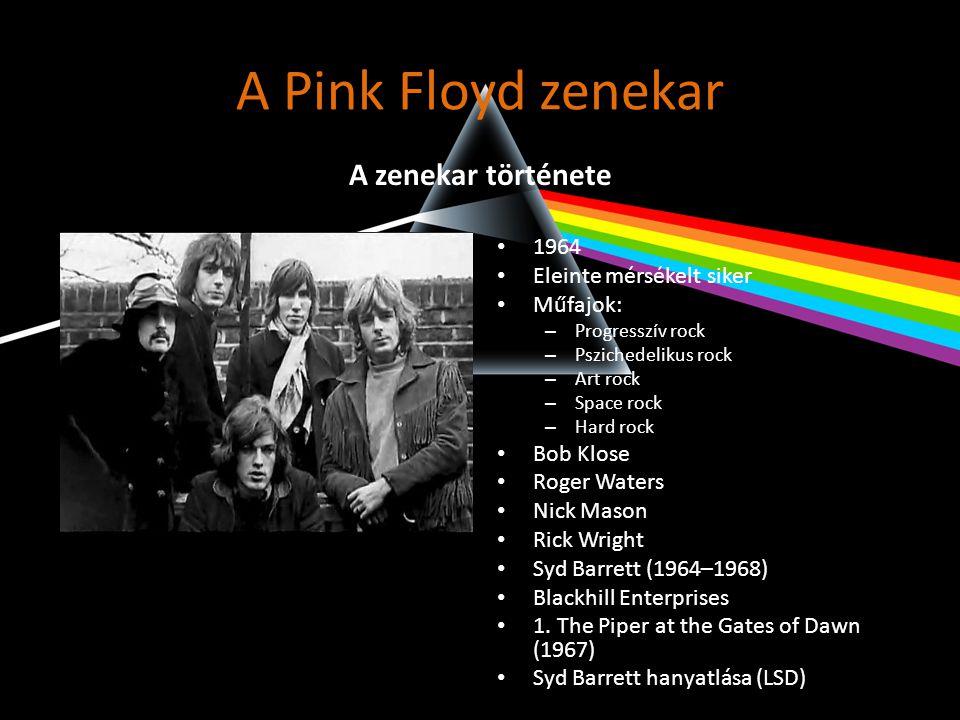 A Pink Floyd zenekar A zenekar története 1964 Eleinte mérsékelt siker
