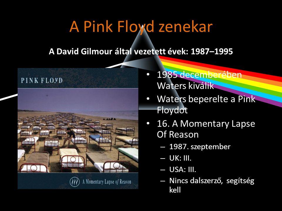 A David Gilmour által vezetett évek: 1987–1995