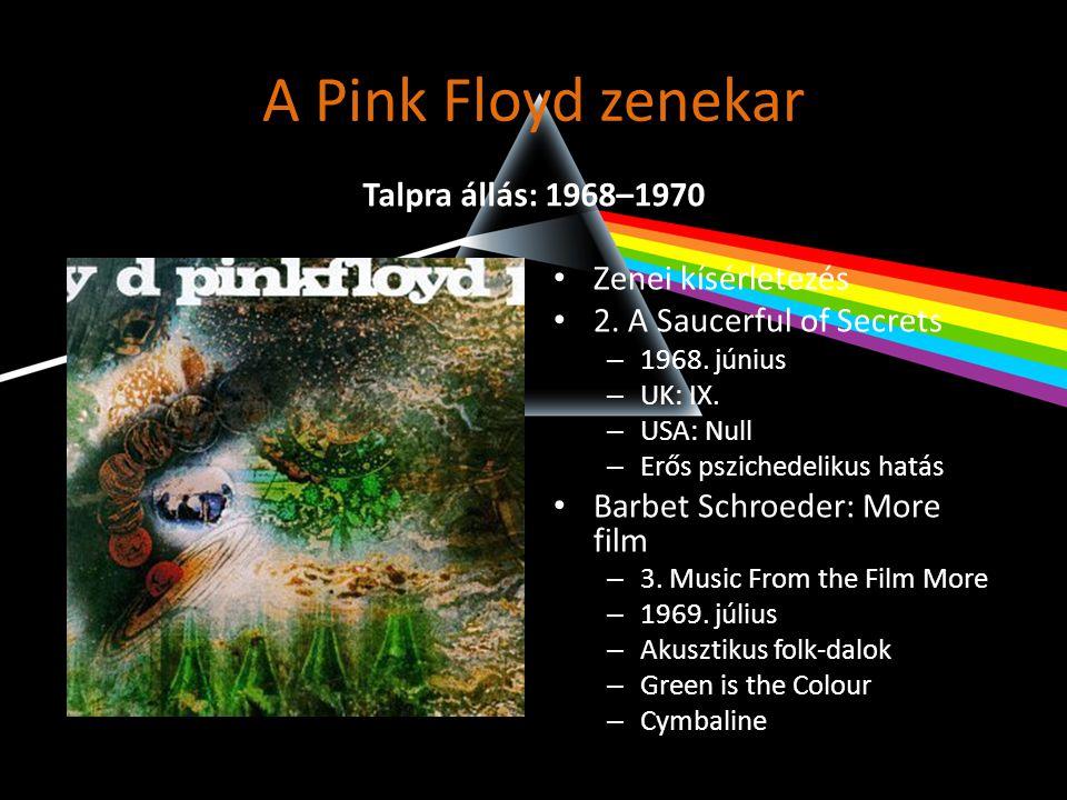 A Pink Floyd zenekar Talpra állás: 1968–1970 Zenei kísérletezés